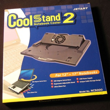GearDiary The Jetart NC5000 CoolStand Notebook Cooler Review