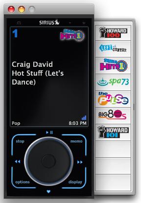 GearDiary SiriusMac 2.1: Streaming Sirius Satellite Radio To Your Mac