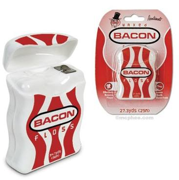 GearDiary Put some sizzle in your flossing habits - Bacon flavored dental floss