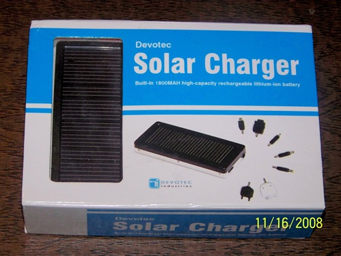 GearDiary Devotec Solar Charger Review