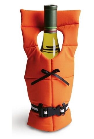 GearDiary Quirky Life Vest wine bottle holder will hold wine but not small children or pets