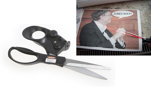 GearDiary Laser guided scissors help keep your cutting straight
