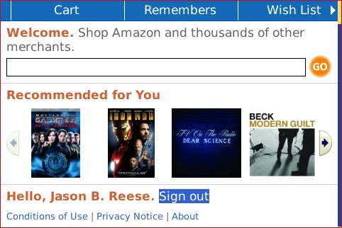 BlackBerry Apps Amazon   BlackBerry Apps Amazon