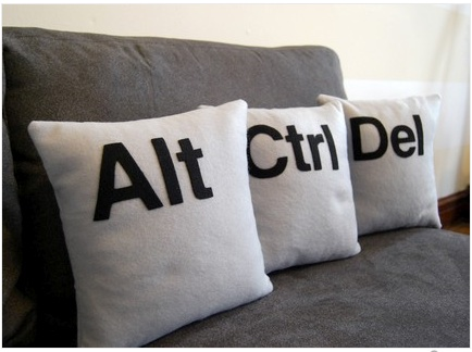 GearDiary Let your friends crash on these CTRL-ALT-DEL Pillows