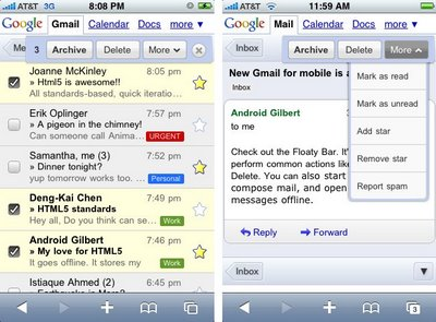 GearDiary Google rolls out goodness with Gmail Mobile for iPhone/iPod Touch and Android devices