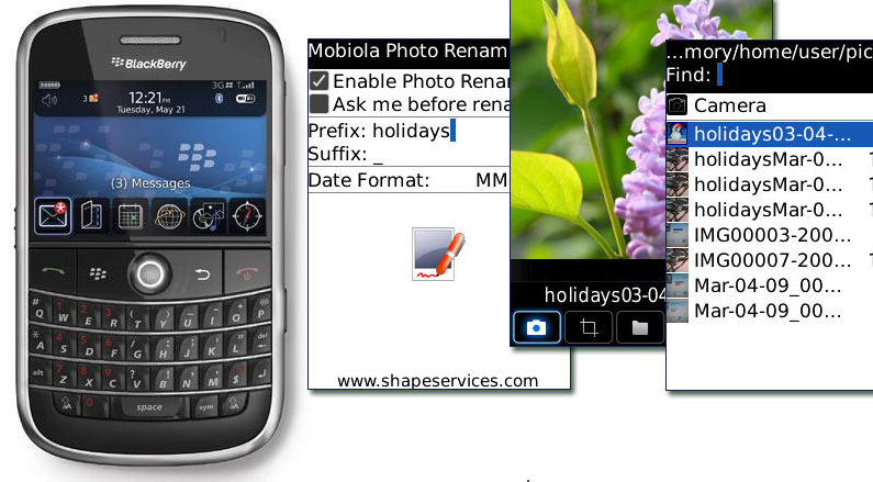 GearDiary Review: Mobiola Photo Renamer for BlackBerry
