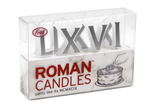 GearDiary Roman (birthday) Candles show your age in a classy manner