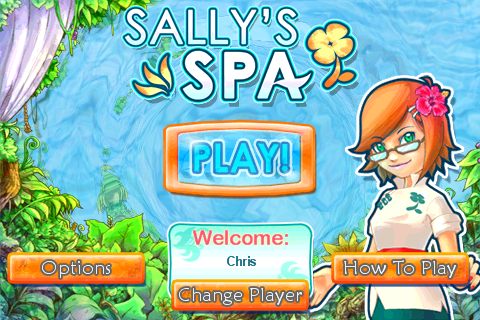 GearDiary Sally's Spa for iPhone - Casual Gaming Relaxes!