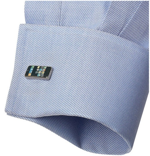 GearDiary iPhone cufflinks complement your Apple collection