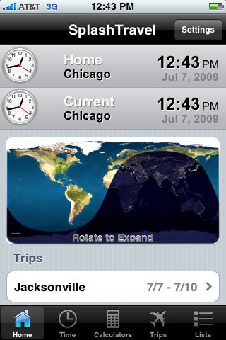 GearDiary SplashTravel for iPhone Review