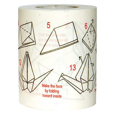 GearDiary Origami Instruction Toilet Paper: Too Much Time On Your Hands?