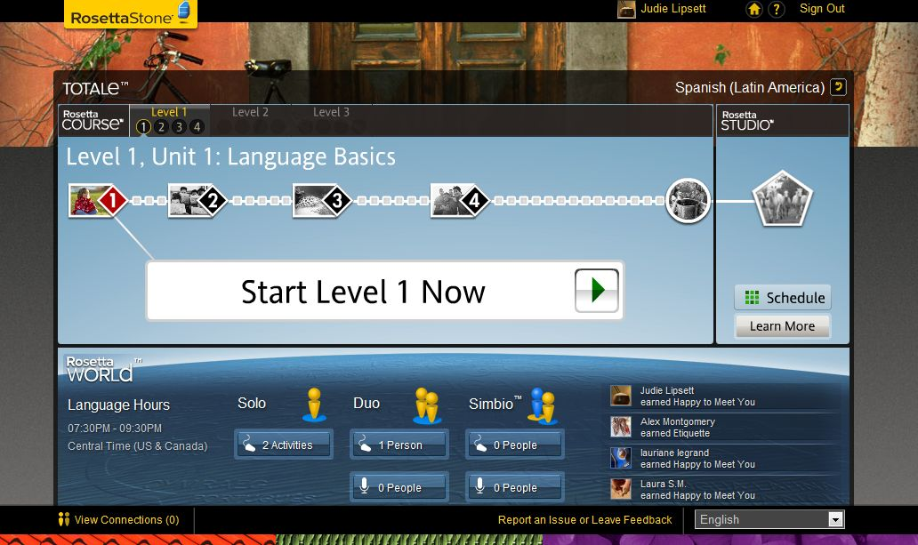 GearDiary Learning Spanish with the Rosetta Stone TOTALe System