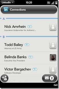 GearDiary Palm Pre App Catalog. 30 Apps in 30 Days. Day 14: LinkedIn