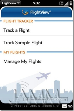 GearDiary Palm Pre App Catalog. 30 apps in 30 Days. Day 20: FlightView
