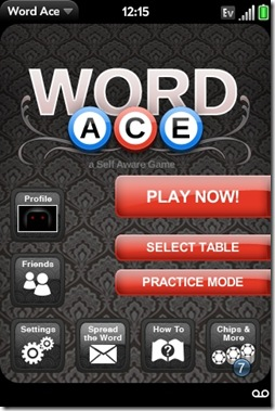 GearDiary Palm Pre App Catalog. 30 Apps in 30 Days. Day 28: Word Ace