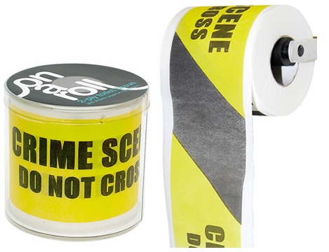 GearDiary Crime scene toilet paper is a perfect gift for that Uncle you see once a year during holidays
