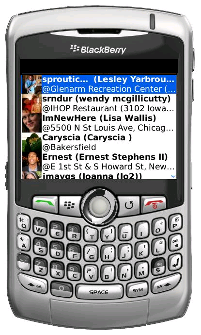 GearDiary myKite Brings Brightkite to BlackBerry Review