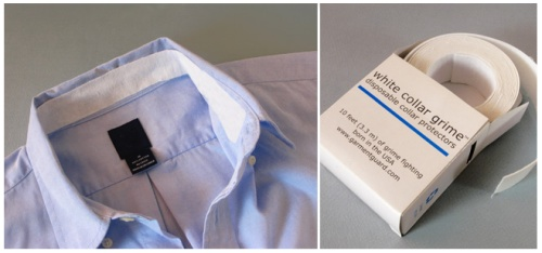 GearDiary White collar grime - disposable shirt protectors for those who hate washing their neck