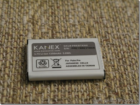 GearDiary Review: Kanex High Capacity Battery for the Palm Pre
