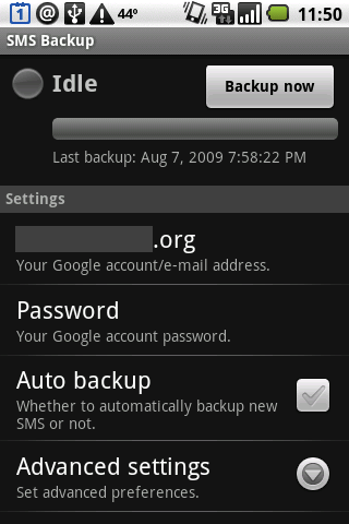 GearDiary Android Users - Back Up Your SMS Messages to Gmail