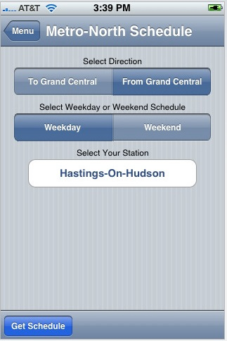 GearDiary Stationstops returns to iTunes Apps Store - Metro North Train Scheduling