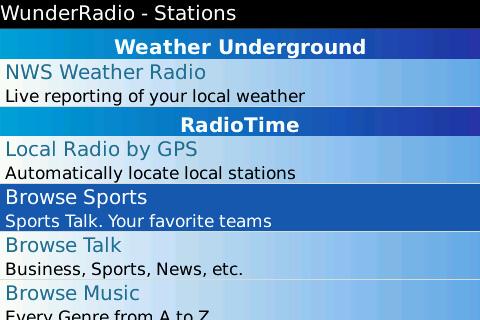 GearDiary Wunder Radio for BlackBerry is released