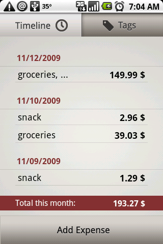 GearDiary Toshl Expense Tracker for Android Review