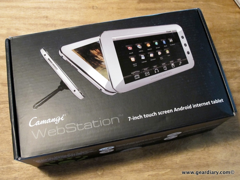 GearDiary First Full Day with the Camangi WebStation