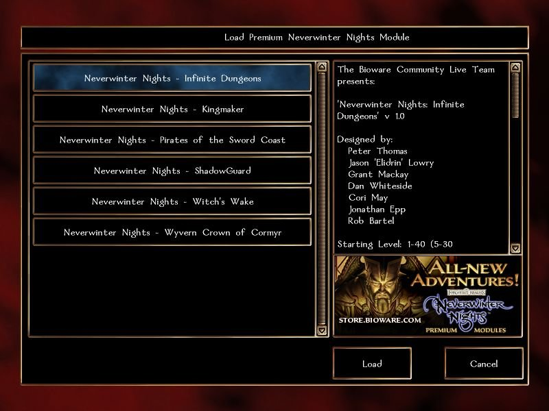 Neverwinter Nights Premium Modules PC Game Module Reviews: