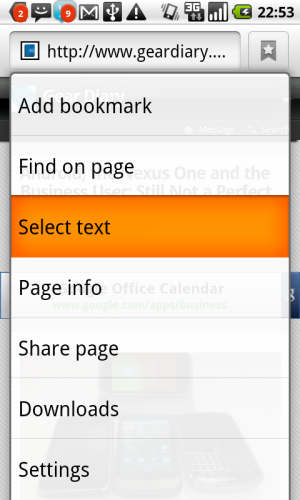 GearDiary Android Tip: Selecting Text to Copy and Paste Without a Keyboard