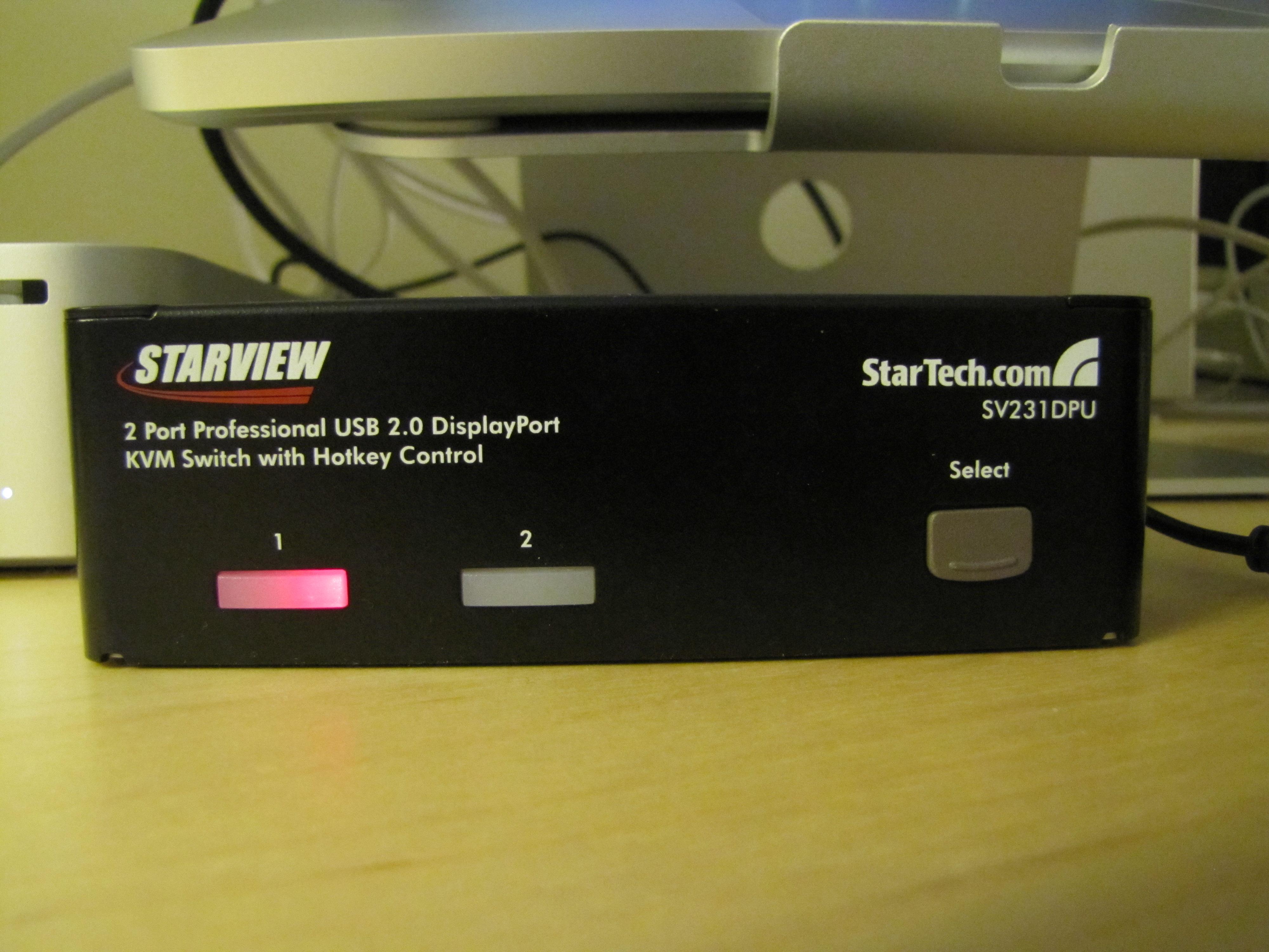 GearDiary Review: StarTech DisplayPort KVM Switch