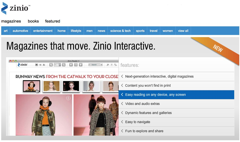 GearDiary Zinio Poised to Bring eMags to the Mainstream