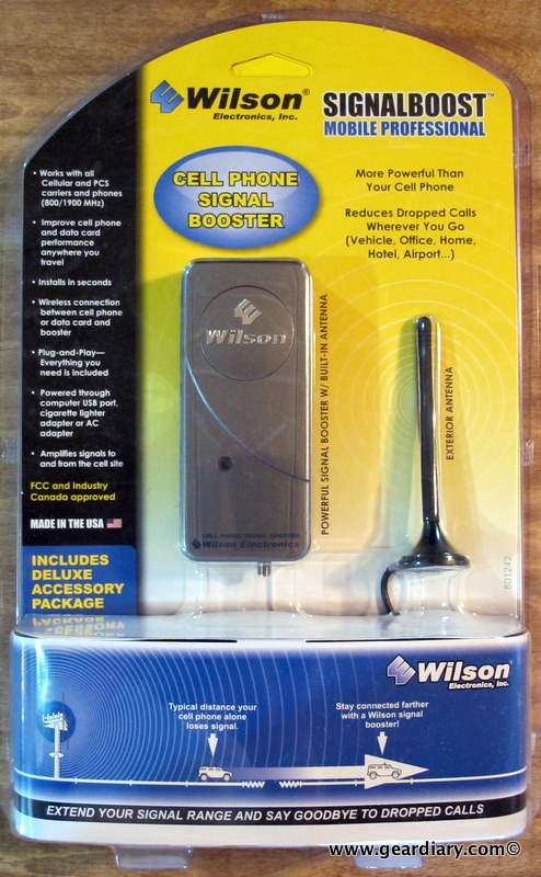 GearDiary The Wilson Electronics MobilePro Wireless Cellular/PCS Dual-Band 800/1900 MHz Amplifier Review