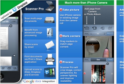Scanners iPhone Apps Dropbox Cloud Computing