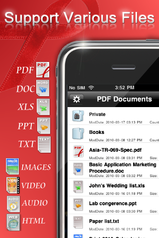 GearDiary PDF Reader from Kdan Mobile Software for iPhone and iPod Touch