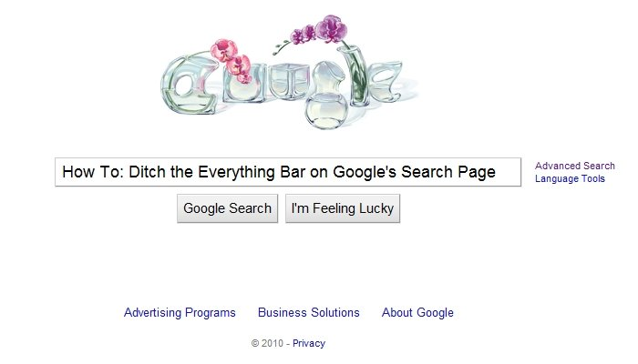GearDiary Ditch the Everything Bar on Google's Search Page