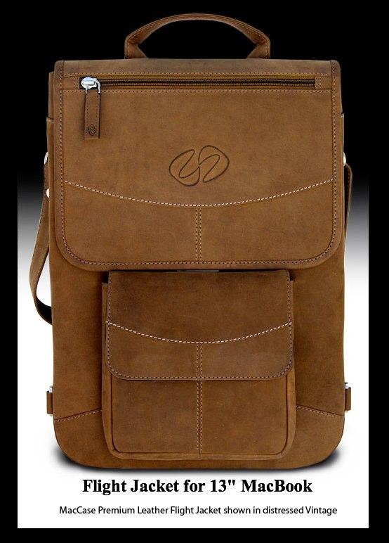 MacCase Premium Leather Flight Jacket for MacBook shown in Vintage.jpg