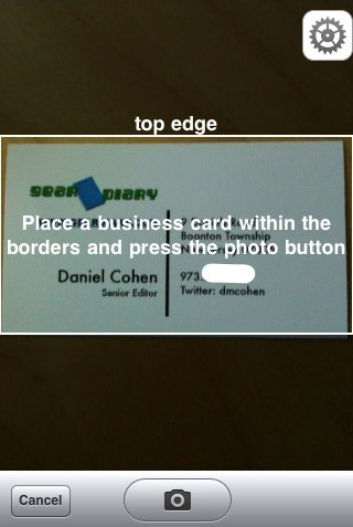 GearDiary ABBYY Business Card Reader- iPhone App Review