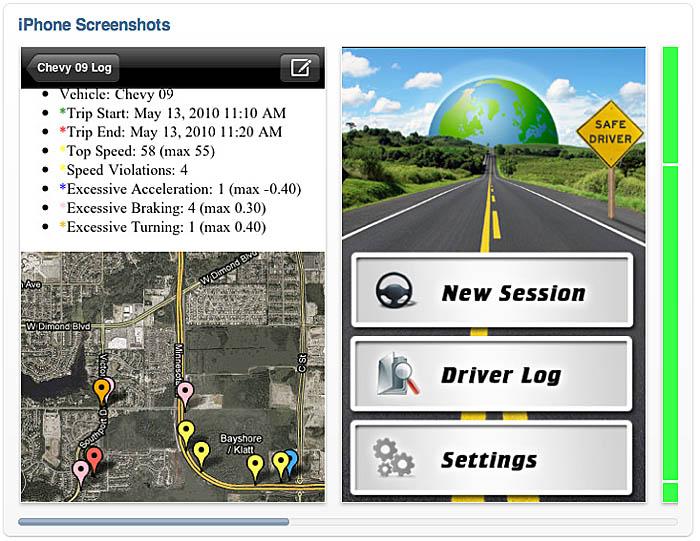 GearDiary iPhone Calls Shotgun With New Safe Driver App