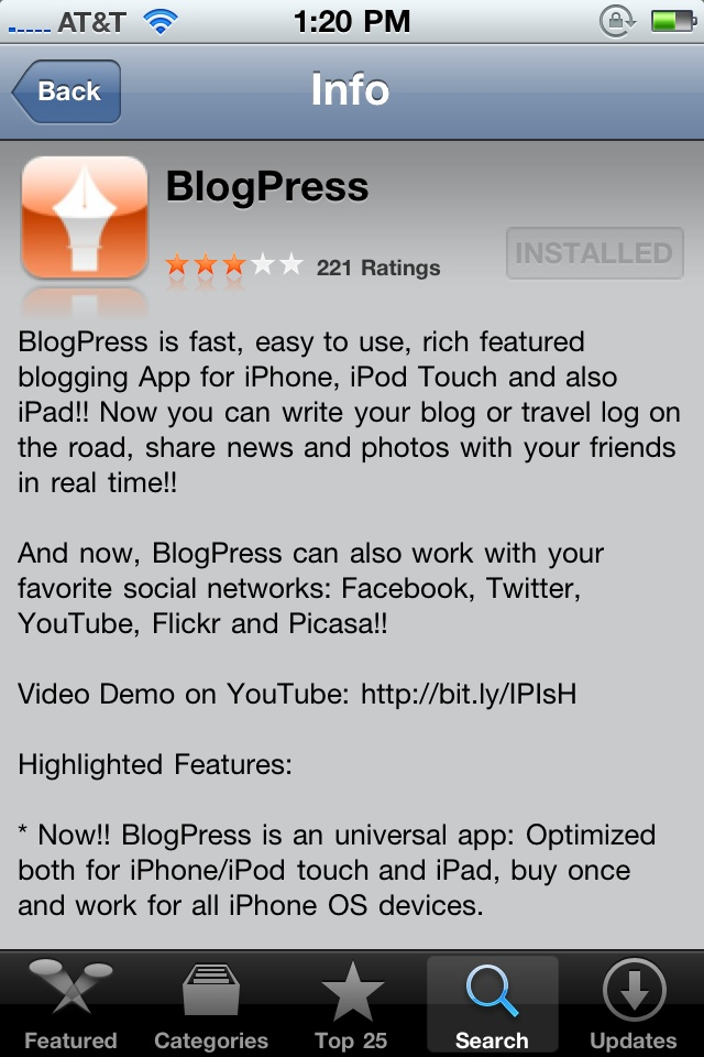 A Quick Test of Mobile Blogging From My IPhone 4