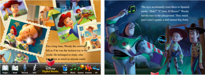Read Along with Woody, Buzz and the Gang:  Toy Story 3 for iPad Review