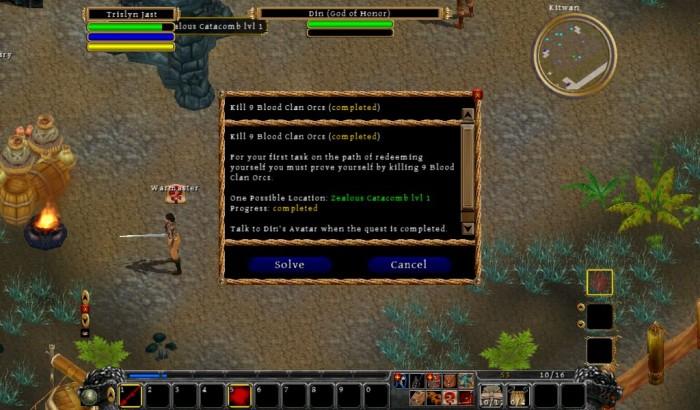 GearDiary The Netbook Gamer: Din's Curse (PC/Mac RPG, 2010)