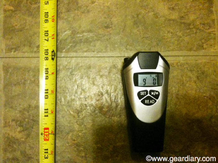 Ultrasonic Distance Measurer With Laser Pointer Review