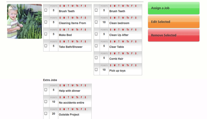 MyJobChart Web Site Review:  A Fun Way To Track Kids' Chores
