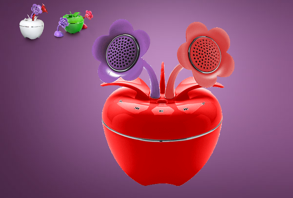 Speakal's New iPom Brings Apples, Flowers and Speakers Together In A Unique Package