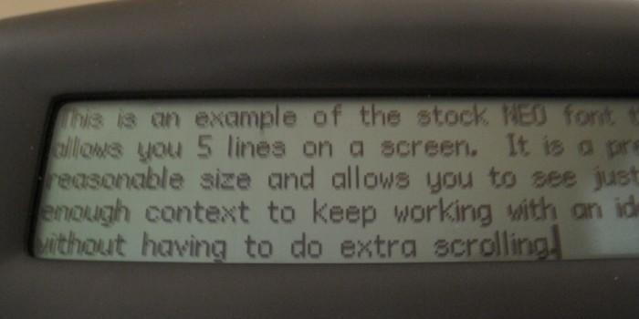 GearDiary font5lines