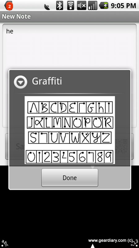 GearDiary Graffiti One Comes to Android!