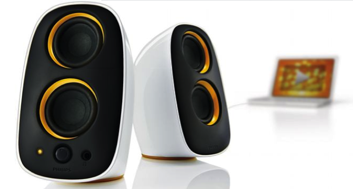 GearDiary Review:  Philips Multimedia Speakers 2.0.  Cute But Party Hard!
