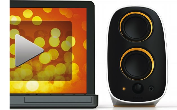 Review:  Philips Multimedia Speakers 2.0.  Cute But Party Hard!