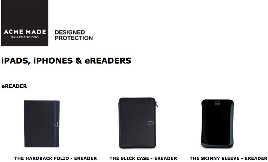 Nook Kindle Gear iPad Gear eReaders